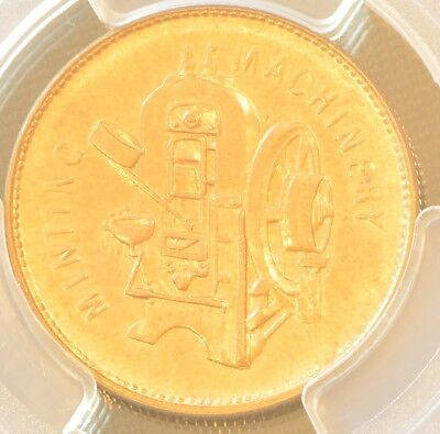 19TH China UK Great Britain Taylor & challen Brass Token 24 mm PCGS  MS 63
