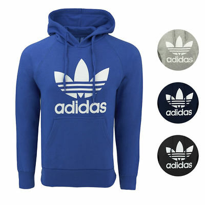 Adidas Trefoil Hoodie Men's Fashion Hooded Casual Pullover Sweatshirt