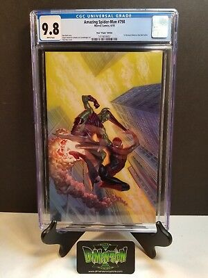 Amazing Spider-Man #798 Ross Virgin Variant 1:100 Cgc 9.8 1St Red Goblin In Hand