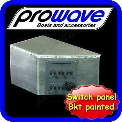 Switch panel, 5 way with 12 volt socket and alloy bracket unpainted