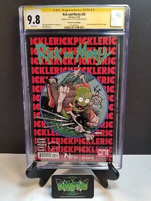 Rick And Morty #35 Brain Trust Variant Spider-Man 300 Homage Cgc Ss 9.8  Signed