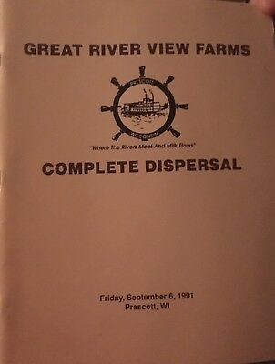 1991 Great River View Holstein Cattle Dispersal Sale Catalog