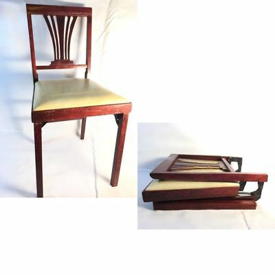 Norquist Vintage Wood Folding Fold Flat Chairs
