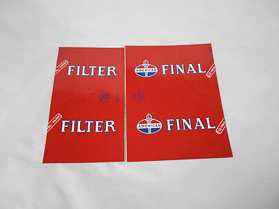 """Vintage American Oil 2 Piece Decal  """"FINAL FILTER"""""""