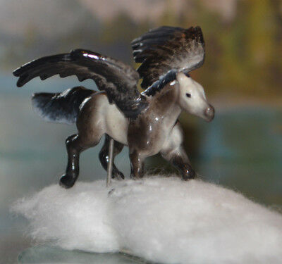 OOAK CM/ Awesomely Customized Breyer Mini Whinnie Pegasus Horse TnT pony NEW
