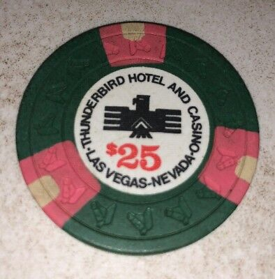 Thunderbird Hotel $25 Casino Chip Las Vegas Nevada 2.99 Shipping