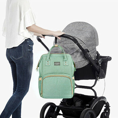 Fashion Mom Mummy Bag Baby Maternity Nappy Diaper Bag Travel Backpack Large YJ
