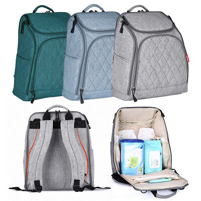 Large Mummy Maternity Nappy Diaper Baby Bag Travel Handbag Cationic Backpack eh7