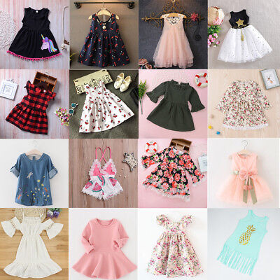 Toddler Kids Baby Girls Party Princess Formal Dress Tutu Tulle Dress Clothes