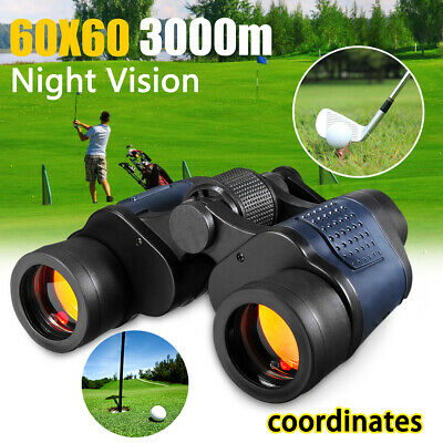 60x60 HD 3000M Military Army Night Vision Optica Binoculars Telescope Hunt&Pouch