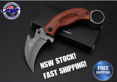 Folding Claw Knife Survival Tactical Camping Hunting Pocket Blade AU STOCK