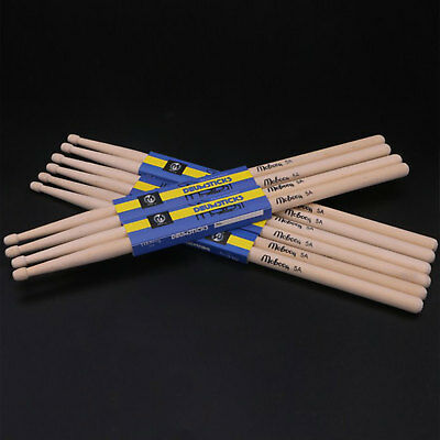 A Pair Maple Wood  Drumsticks 5A Drum sticks wooden tips for Music Band Useful