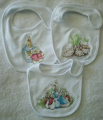 Peter Rabbit Family~Baby Bibs~Cotton Polyester~Set Of 3