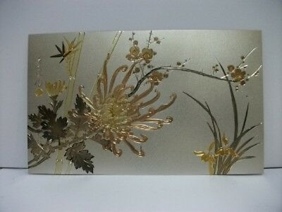 Pure gold, pure silver, a metal engraving product. Flower. SYUUHOU's work