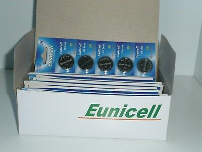 100 x EUNICELL CR2450 3V Lithium Batteries  BR2450  DL2450 Button Cell Battery