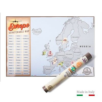 Scratch Map Europe | L'unica Mappa da Grattare Made in Italy |