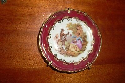 Small Collectable Vintage Limoges France China Display Plate -Courting Couple
