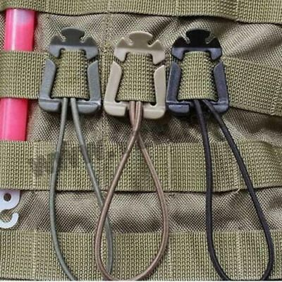 Tactical Molle Strap EDC Outdoor Backpack Bag Webbing Carabiner Buckle Clip