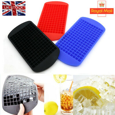 !UK Seller! Silicone 160 Cavity Mini Square Ice Cube Tray Maker Mold Mould IN UK