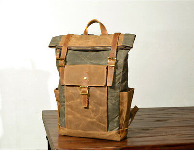 Waxed Canvas backpack. Heavy Duty Canvas backpack. Travel backpack.Uni backpack.