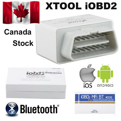 Canada Ship XTOOL iOBD2 OBD2 EOBD Auto Scanner For iPhone/Android By Bluetooth