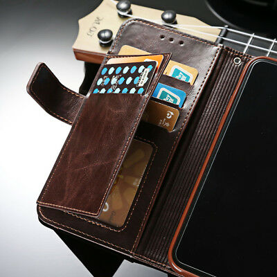 For Samsung Galaxy S8/S9 Note 8, Flip Leather Men's Wallet Card Stand Case Cover