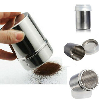 Stainless Steel Chocolate Shaker Icing Flour Cocoa Sugar Cappuccino Sifter