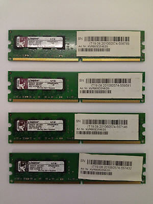 8GB Kingston DDR-2 RAM (4 x 2GB  KVR800D2N5/2G Module) PC2-6400U 800 MHz, Intel