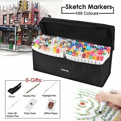 Upgrade Touch 80 168 Colour Animation Marker Pen Graphic Art Sketch Broad Fine