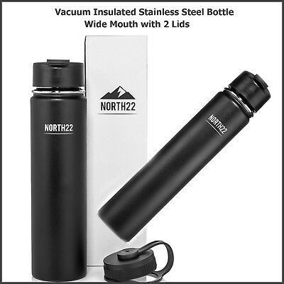 24 Ounce Vacuum Insulated Stainless Steel Bottle Hot or Cold Travel Coffee Mug