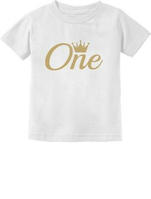 Baby Girl / Boy 1st Birthday Gift One Year Old Crown Infant Kids T-Shirt