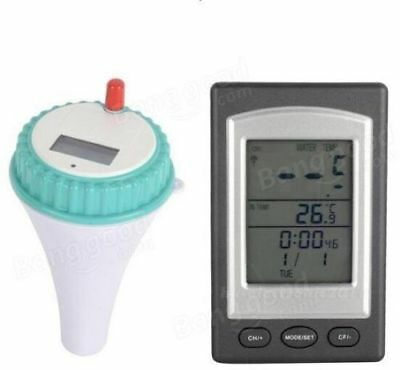 Waterproof Wireless Floating Thermometer Swimming Pool Spa Hot Tub Thermometer