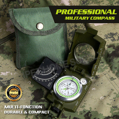 Professional Military Compass Clinometer Camping Hiking Sport Army
