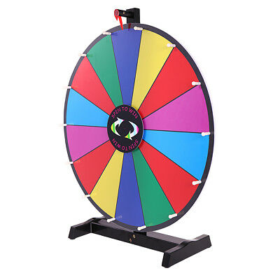 "24"" Tabletop Color Dry Erase Prize Wheel Fortune Spin Game Tradeshow New"