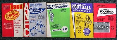 1966  ANFC Football Championships, Hobart:  SET OF  5  FOOTBALL  RECORDS
