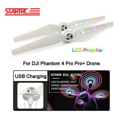 1 Pair LED Flash Lights Propeller USB Charging For DJI Phantom 4 Pro Accessories