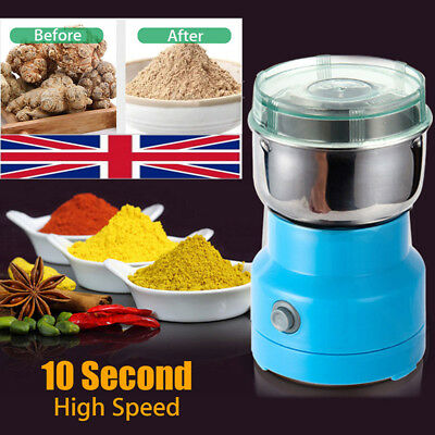 220V Electric Curry Herbs/Spices/Nuts/Grains/Coffee Bean Grinder Mill Grinding