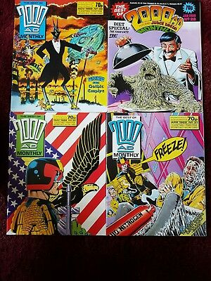 Best of 2000ad monthly / 4 issue bundle. 1988.