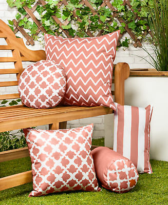 Charcoal Grey Arabesque Collection Outdoor Cushions Waterproof