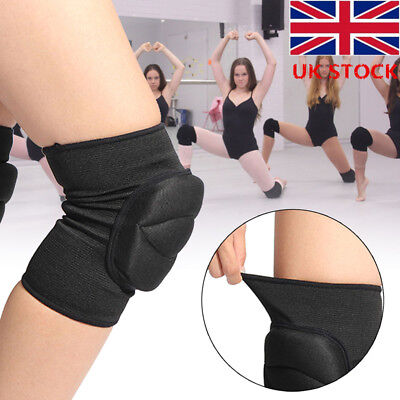 1 Pair S/M Knee Pads For Dance Ballet Gym All Sports Black Protector Soft Pads