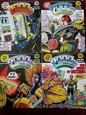 Best of 2000ad monthly. 4 comic bundle. 1987.