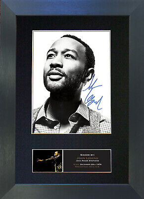 JOHN LEGEND Signed Mounted Autograph Photo Prints A4 438
