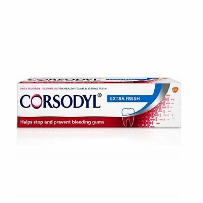 Corsodyl Extra Fresh Toothpaste | Helps Stop Bleeding Gums 75ml 1 2 3 6 12 Cases