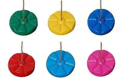 Children's Swing Seat Disc With Height Adjustable Ropes! Choice Of Colours!