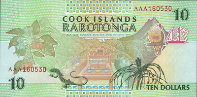 Cook Inseln / Cook Islands 10 Dollars (1992) Pick 08 (1) UNC
