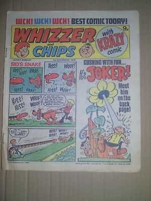 Whizzer and Chips issue dated November 4 1978
