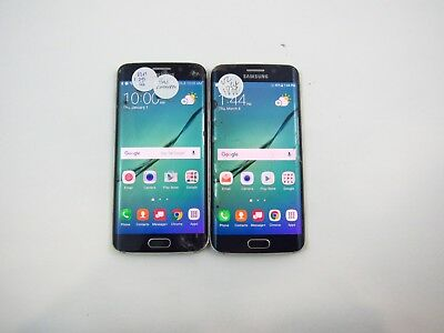 Lot of 2 Parts & Repair Samsung Galaxy S6 Edge G925V Check IMEI PR