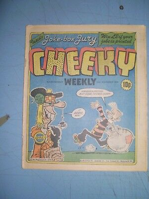Cheeky issue dated November 10 1979