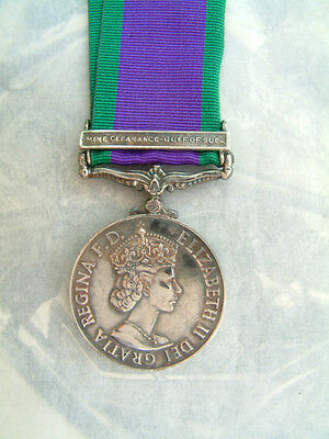 British Army Navy Raf Campaign General Service Medal Mine Clearance Suez Boxed