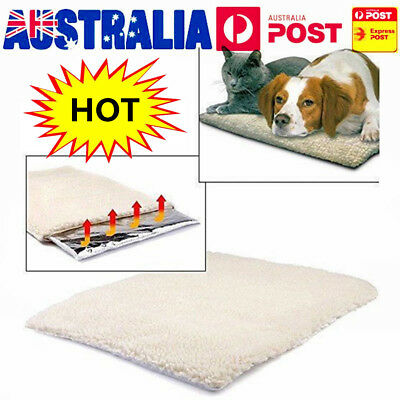 Self Heating Dog Cat Blanket Pet Bed Thermal Washable No Electric MO